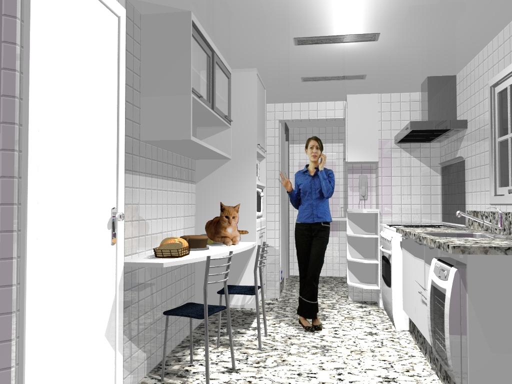 com 1024 × 768 em Idéia de cozinha para apartamento – Campinas/SP #2B4379 1024 768